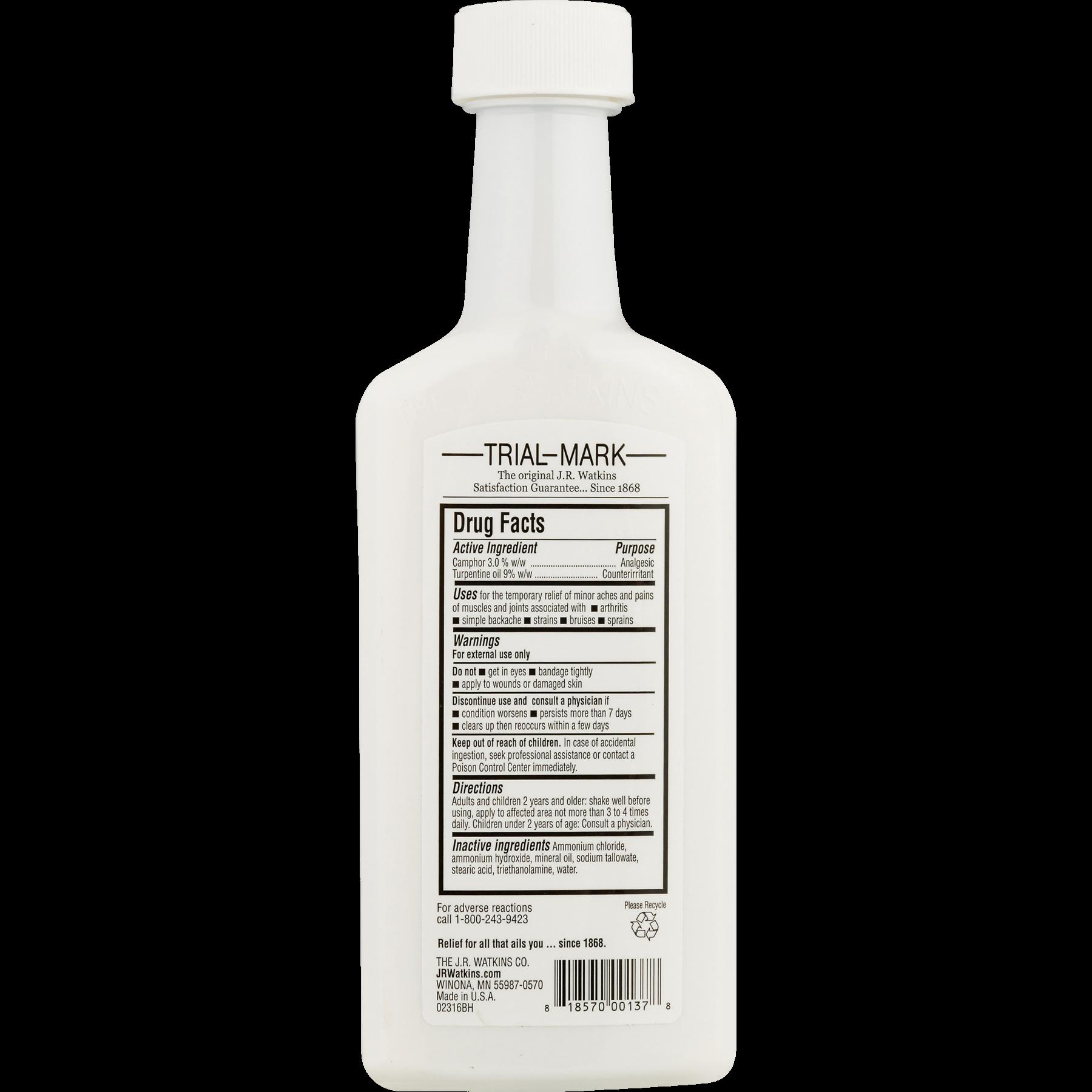 J R  Watkins White Cream Liniment, 11 Oz Bottle - Walmart com