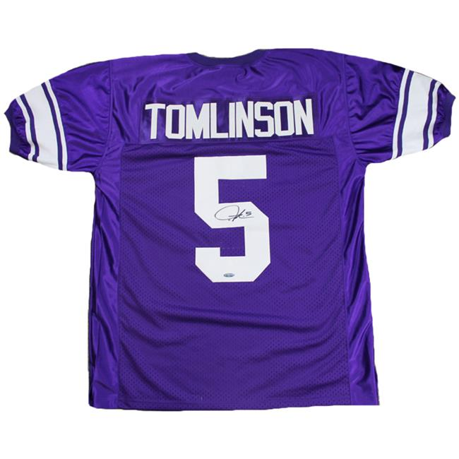 TriStarProductions I0014443 LaDainian Tomlinson Autographed TCU Horned Frogs Purple Custom Jersey