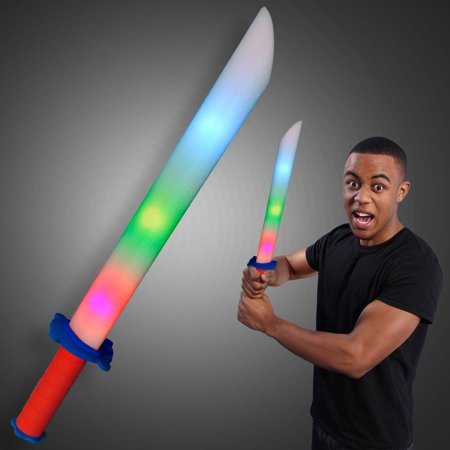 FlashingBlinkyLights Foam Light Up LED Toy Sword