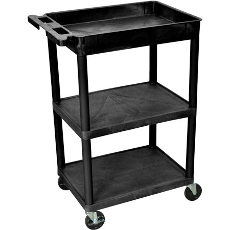 - Luxor Top Tub and Flat Middle and Bottom Shelf Utility Cart