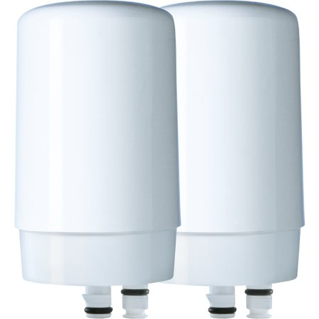 Di Water Filtration (Brita Tap Water Filter, Water Filtration System Replacement Filters For Faucets, Reduces Lead, BPA Free - White, 2)