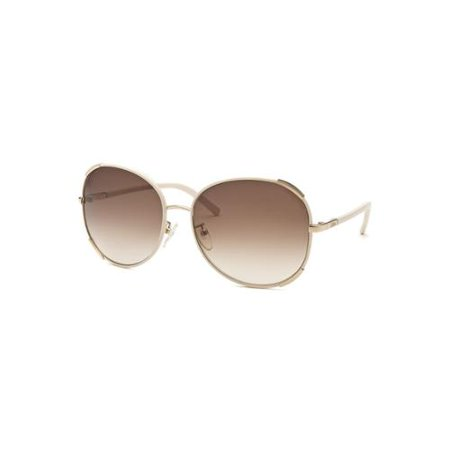 274e72931d8 ... UPC 883121900073 product image for Chloe Women s Aviator Beige Sunglasses  Leather Accent
