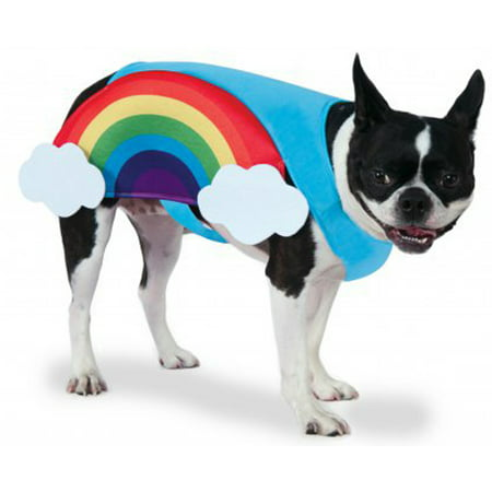 Halloween Dog Costumes Spider (Rainbow With Clouds Pet Dog Cat Pride Halloween)