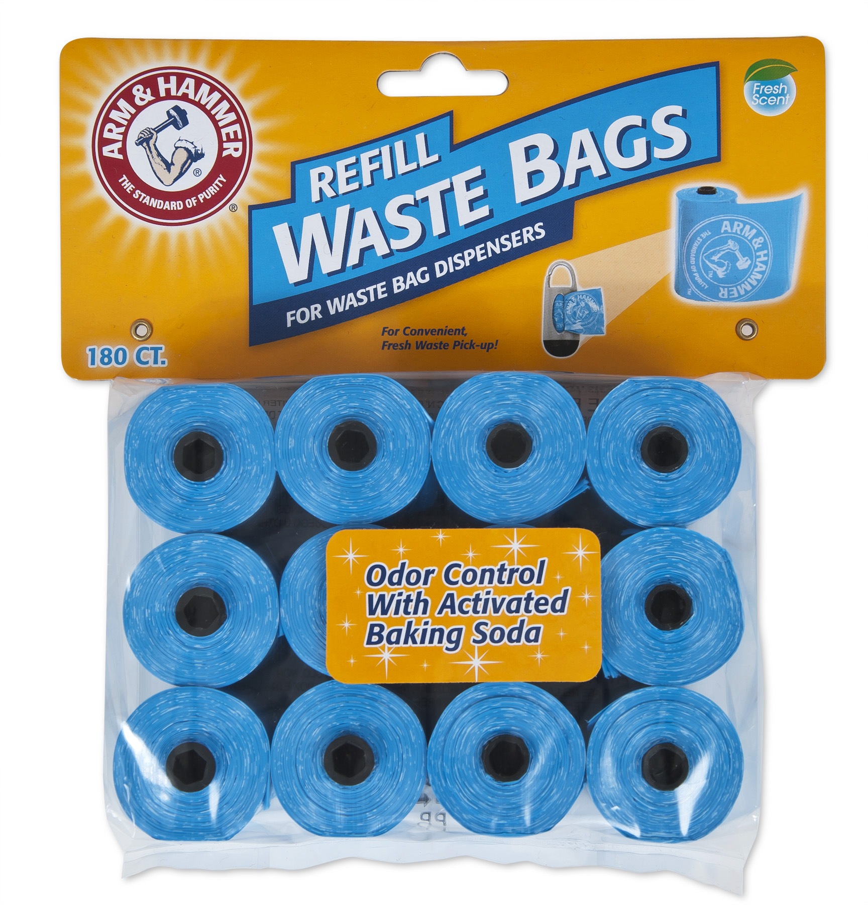 Arm & Hammer Disposable Waste Bag Refills, 180 Ct