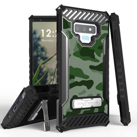 buy popular 0bf33 76aaf Beyond Cell TriShield Series Compatible with Samsung Galaxy Note 9,  Military Grade Drop Tested Shockproof Armor Stand Case and Atom Cloth -  Army Camo