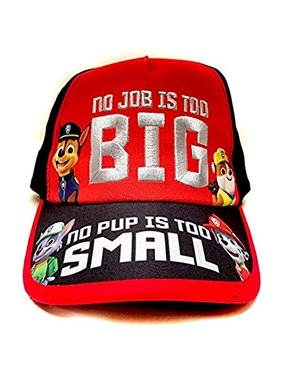 "Nickelodeon Paw Patrol ""No Job No Pup"" Kids Children Boys Baseball Cap -Age 4 ~ 10"