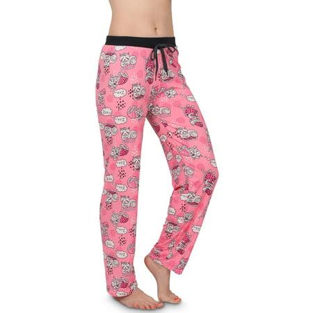 Victorias Collection Womens Silky Pajama Lounge Pants, PINKCAT, Size: (Dreamsack Womens Pajamas)