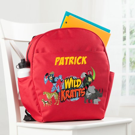 Personalized Wild Kratts Creature Adventure Red Toddler Backpack](Adventure Backpacks)