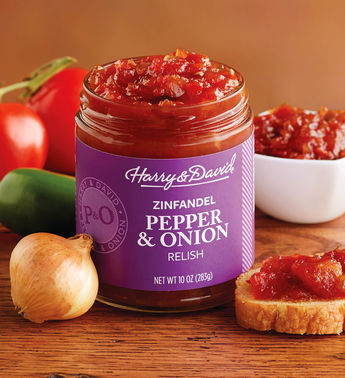 Harry & David Pepper & Onion Relish with Zinfandel, 10 Oz
