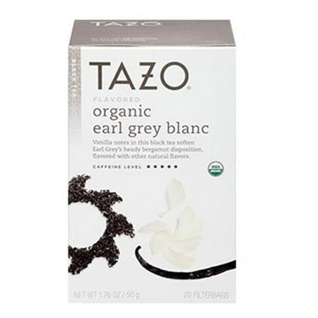 Tazo ® Earl organique Gris Blanc Noir Sacs Thé 20 ct. Boîte
