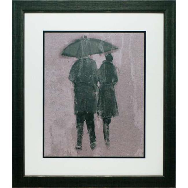 North American Art N2010 26 x 30 in. Rain Romance II Framed Cityscape Art Print - image 1 de 1