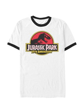 24bf4706d928d Product Image Jurassic Park Men s 25th Anniversary Logo Ringer T-Shirt