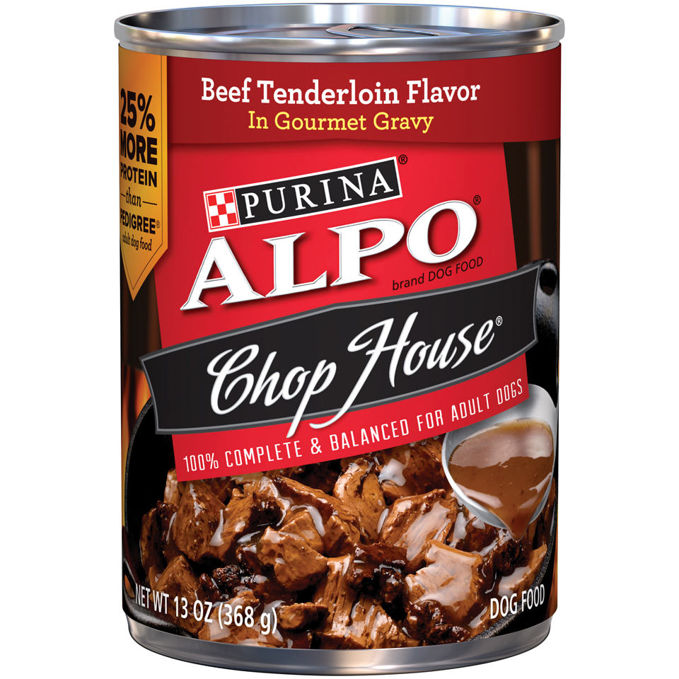 Purina ALPO Chop House Beef Tenderloin Flavor In Gourmet Gravy Dog Food Case of 12- 13 oz. Cans