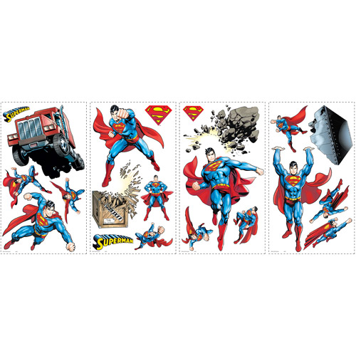 ... RoomMates Superman Day of Doom Peel and Stick Wall Decals