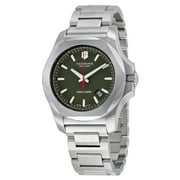 Swiss Army INOX Green Dial Stainless Steel Mens Watch 241725.1