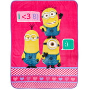 """Minions Girl Hold On To Love Twin 46"""" x 60"""" Throw, 1 Each"""