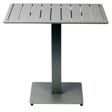 BFM Seating South Beach Aluminum Rectangular Patio Dining Height Table South Beach 40 Dining Table