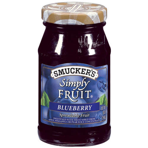 Smucker's: Simply Fruit Blueberry Spreadable Fruit, 10 Oz