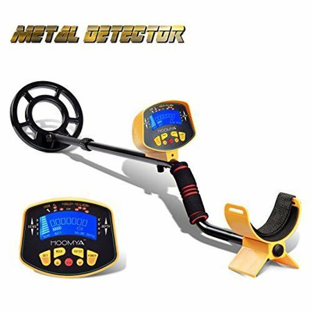 URCERI GC-1028 Metal Detector High Accuracy Waterproof 2 Modes Outdoor Gold Digger with Sensitive Search Coil LED Display for Beginners Professionals, Yellow](Beth Bounty Hunter)
