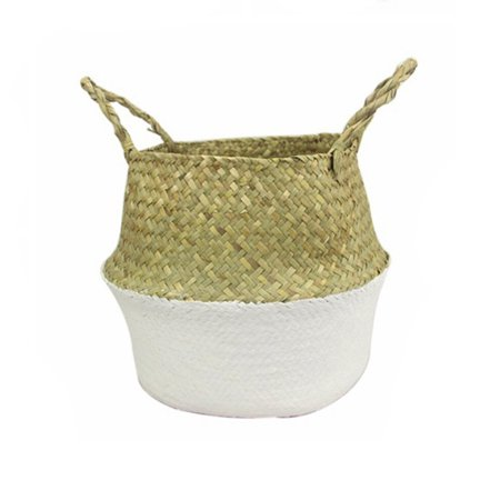 Bestller Woven Seagrass Belly Basket For Storage,Laundry,Picnic,Plant Pot Cover And Grocery And Toy Storage 9''x8'' by Bestller