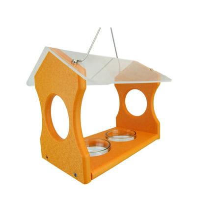 Nature Products USA Orange Oriole Poly Lumber Bird Feeder 3000