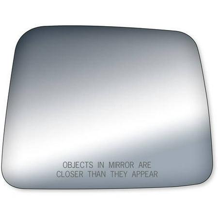 90102 - Fit System Passenger Side Mirror Glass, Nissan Pathfinder 87-95, Pick-Up E, SE, XE Model 86-97 (foldaway)