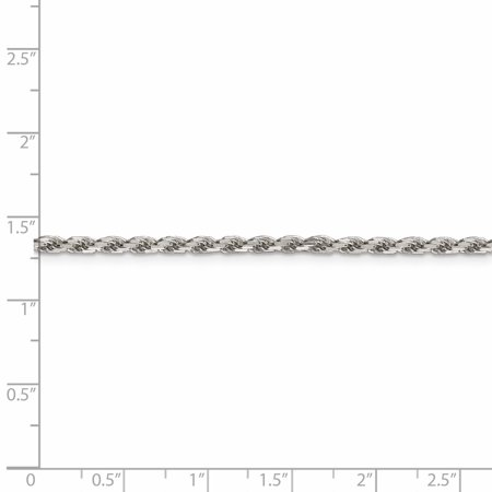 925 Sterling Silver 2.5mm Diamond-cut Rope Chain 16 Inch - image 2 of 5