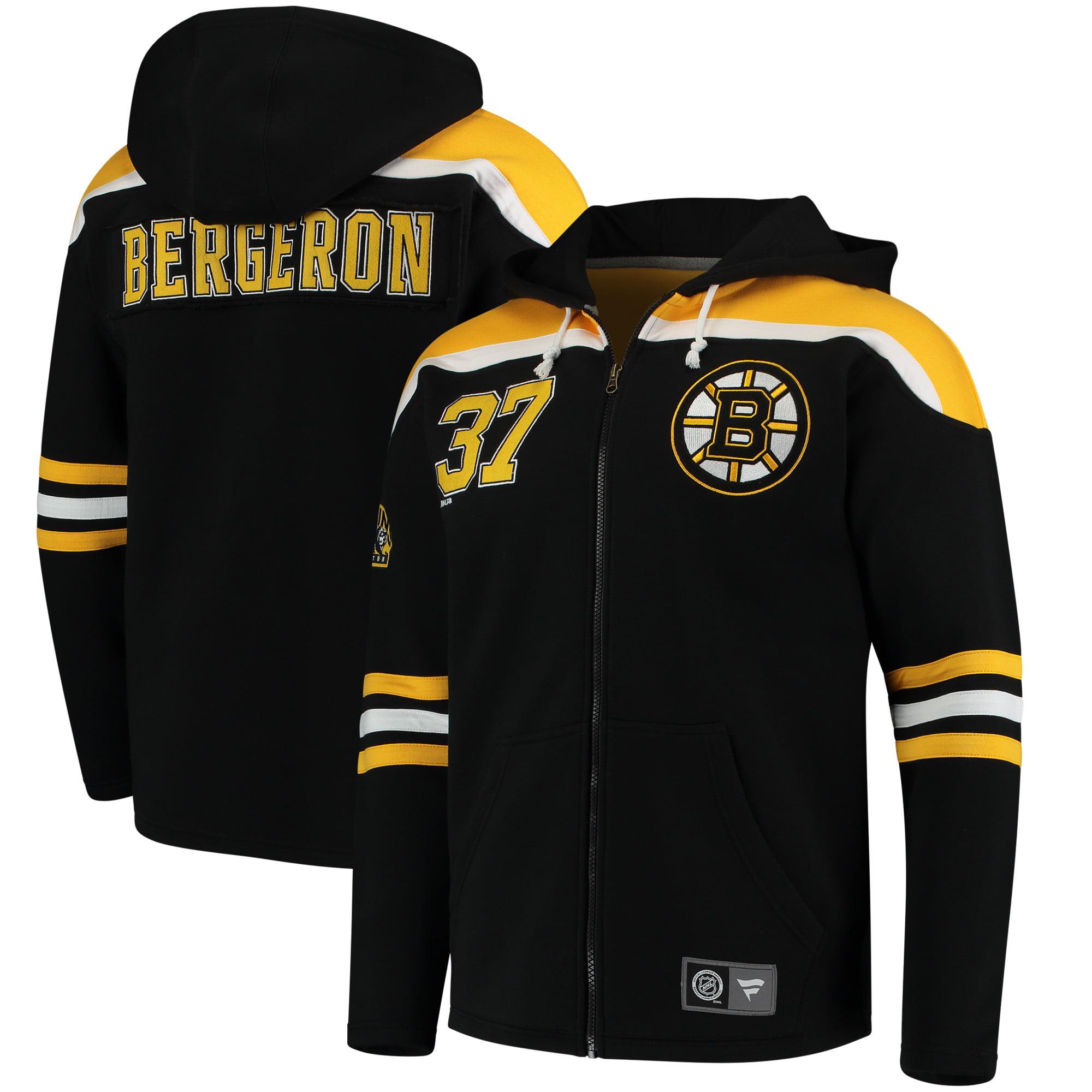 Patrice Bergeron Boston Bruins Fanatics Branded Breakaway Full-Zip Hoodie - Black