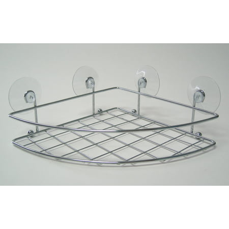 - Splash Home Caddies Curved Suction Basket For Bathroom In Chrome