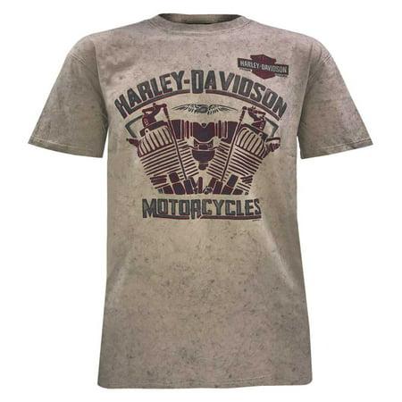 Harley-Davidson Men's Heat of Fusion Short Sleeve Tee, Dark Sand Wash 5J0M-HF5T, Harley Davidson - Harley Davidson Birthday