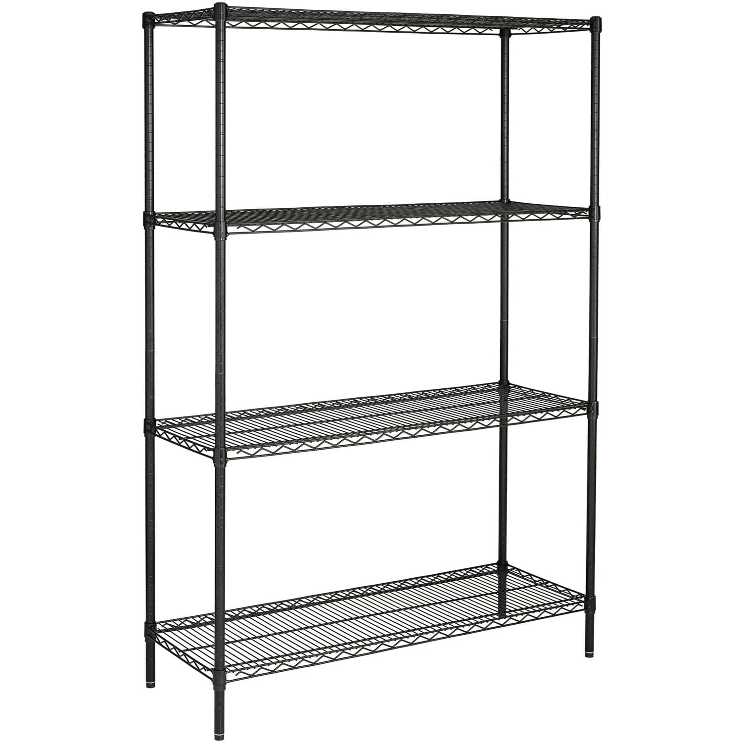 Wire Shelving Baskets | Hyper Tough 18 Dx48 Wx75 H With Casters 4 Shelf Commercial Grade