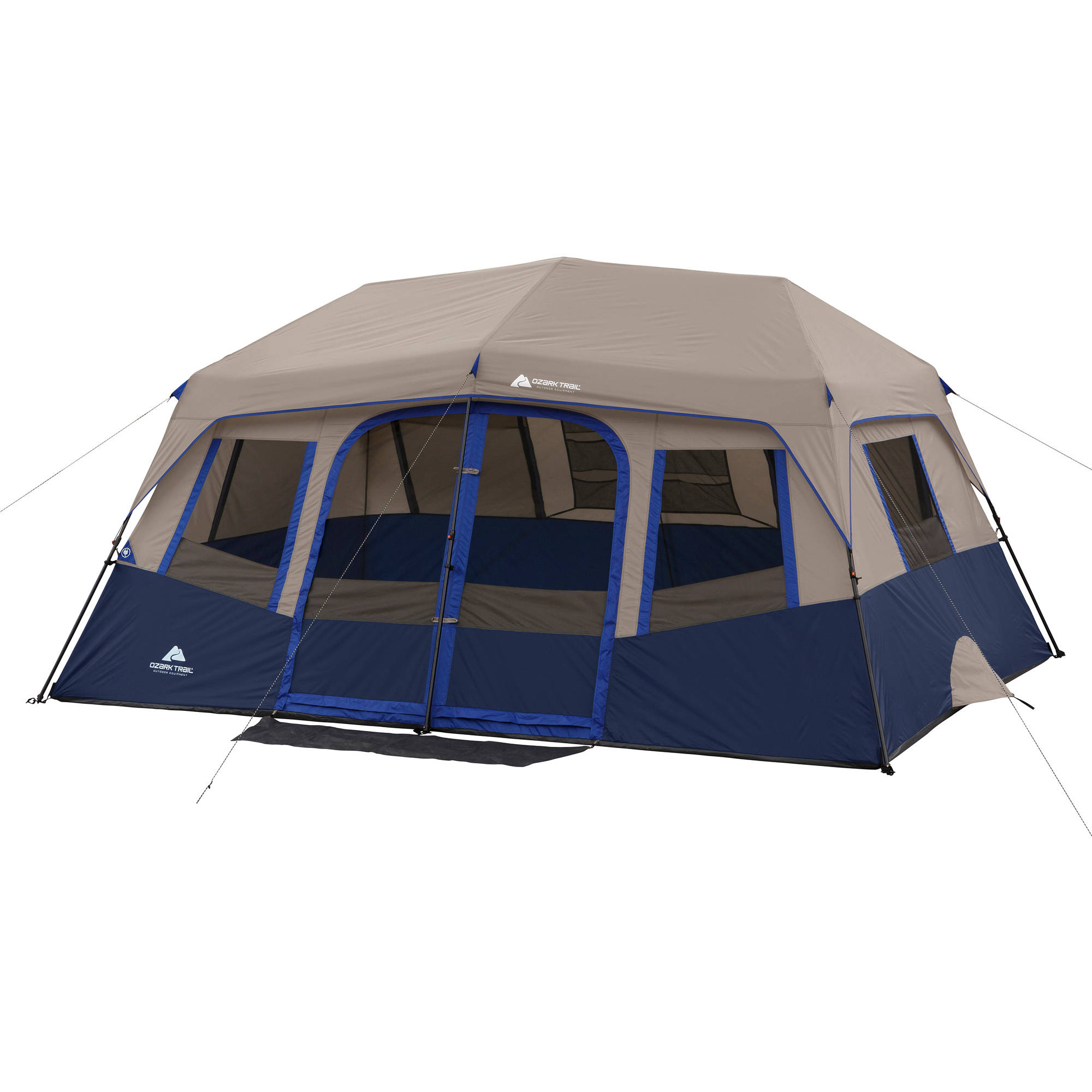 Ozark Trail 10 Person 2 Room Instant Cabin Tent  sc 1 st  Walmart & Ozark Trail 10 Person Instant Cabin Tent u0026 4 Bonus Folding Chairs ...