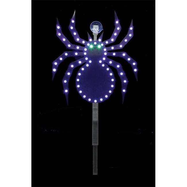 7407391U 12 in. Halloween LED Spider Stake