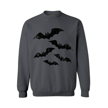 Awkward Styles Halloween Bats Sweatshirt for Men and Women Spooky Bats Sweater Halloween Party Outfit Day of the Dead Sweater Dia de los Muertos Gifts Halloween Sweatshirt Scary Holiday Sweater (Halloweens Weather)