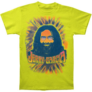 Jerry Garcia Men's  Psychedelic T-shirt Green