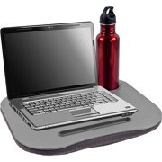 Cushioned Desk with Pen and Cup Holder for Work and Leisure by Laptop Buddy
