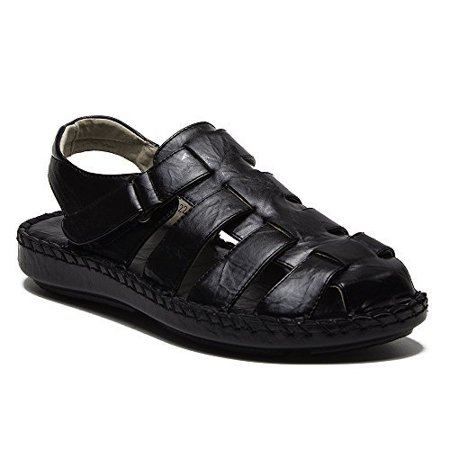 3f5ce8128 J aime Aldo - Majestic Men s 71225 Caged Closed Toe Gladiator Sandals  Slides - Walmart.com