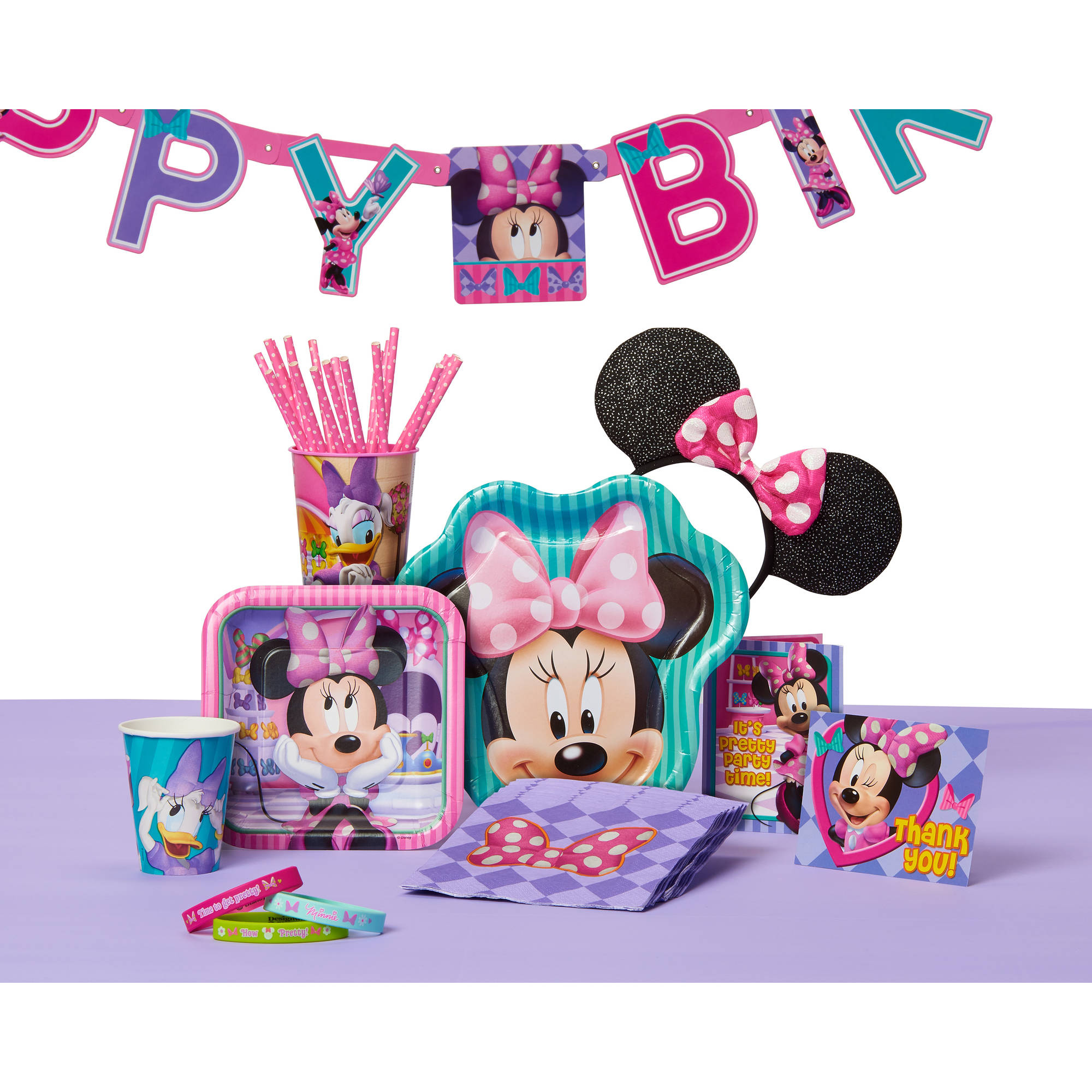 Minnie Mouse Bow Tique Party Headbands 8ct Walmartcom