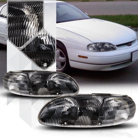 Black Housing Crystal Lens Headlight Lamp For 95 01 Chevy Lumina Monte Carlo 96 97 98 99 00