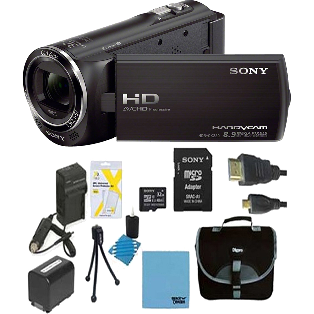 Sony HDR-CX405/B Full HD 60p Camcorder Black Kit
