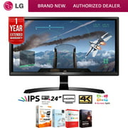 LG 24UD58-B 24-inch 16:9 4K UHD 3840 x 2160 FreeSync IPS Monitor Bundle with Elite Suite 18 Standard Editing Software Bundle and 1 Year Extended Warranty