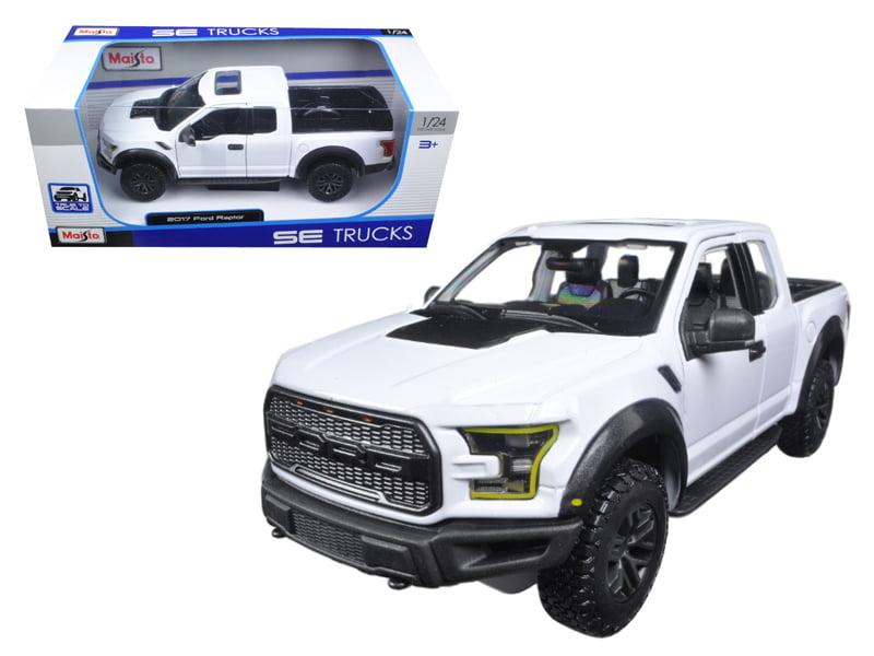 2017 Ford Raptor Pickup Truck White 1 24 Diecast Model Car by Maisto by Maisto