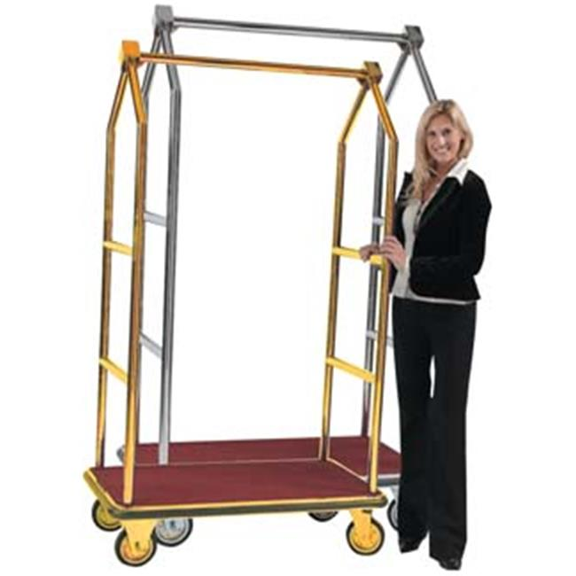 Aarco Products LC-2B-4P 72 inch Bellmans Luggage Cart - Brass