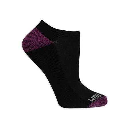 Fruit of the Loom Womens Everyday Soft Cushioned No Show Socks, 10-Pack