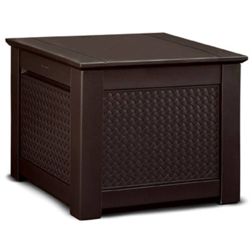 Rubbermaid Basketweave Deck Box, Dark Teak