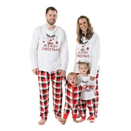 Sawpy Family Pajamas Set, Christmas Elf Print Matching Pajamas - Matching Holiday Pajamas For Family
