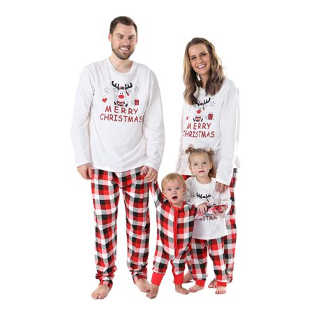 Sawpy Family Pajamas Set, Christmas Elf Print Matching Pajamas - Pajamas Family Christmas