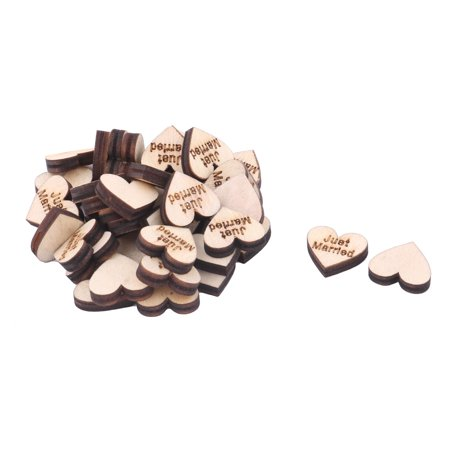 Wooden Slices Heart Shape DIY Crafts Wedding Table Decor Accessories 40 Pcs - Wooden Hearts Crafts