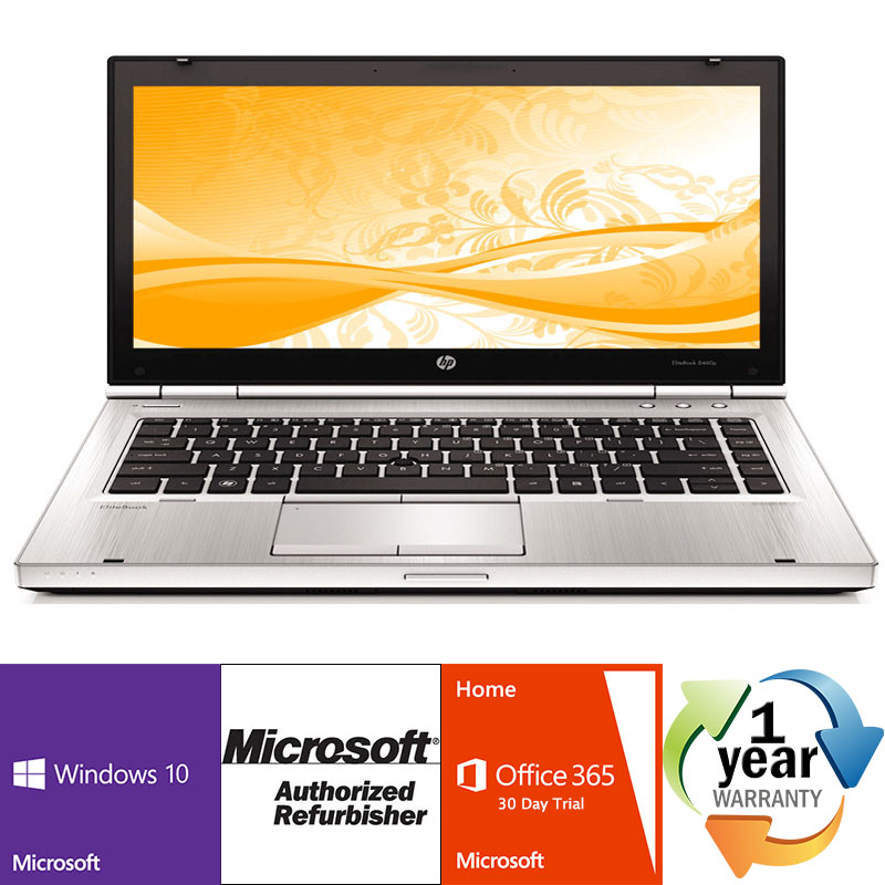Off Lease REFURBISHED HP EliteBook 8460p 2.6GHz i5 4GB 160SSD DRW Windows 10 Pro 64 Laptop CAM