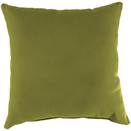 Jordan Manufacturing Indoor/Outdoor Patio Square Toss Pillow, Veranda Kiwi